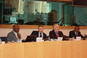 Mr Gakumba et le Les députés européens dans un colloque au parlement européen.