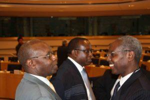 Albert Gakumba (Ibuka Belgique), JD Bizimana (CNLG), Musare Faustin (Ambassade du Rwanda en Belgique)